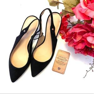 💥Kate Spade Black Suede Shiloh Slingback Shoes 6